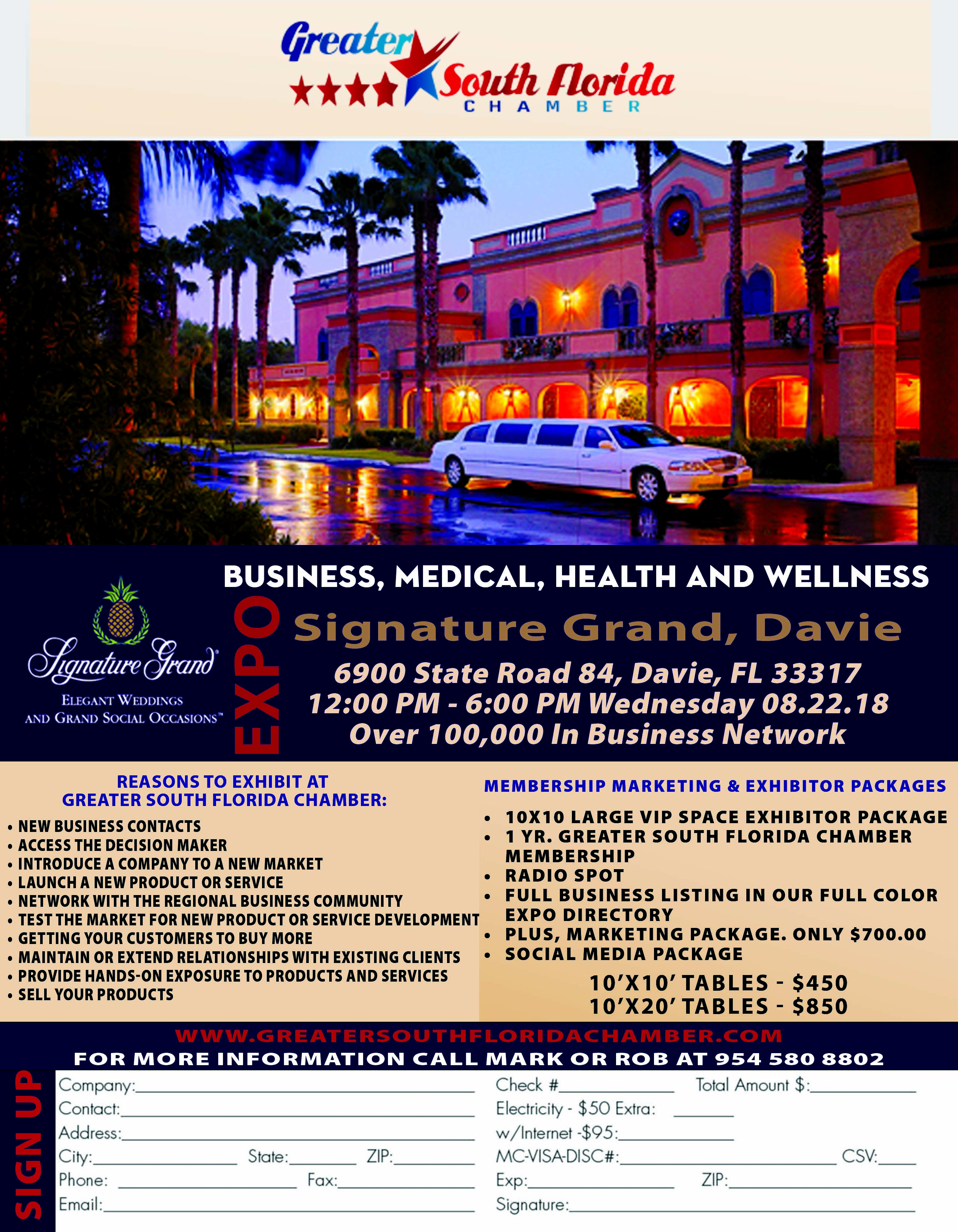 Business, Medical, Health and wellness Expo @ Signature Grand, Davie | Davie | Florida | United States